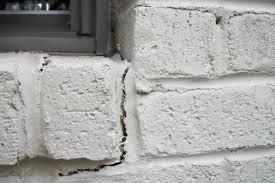 cracks in mortar between bricks